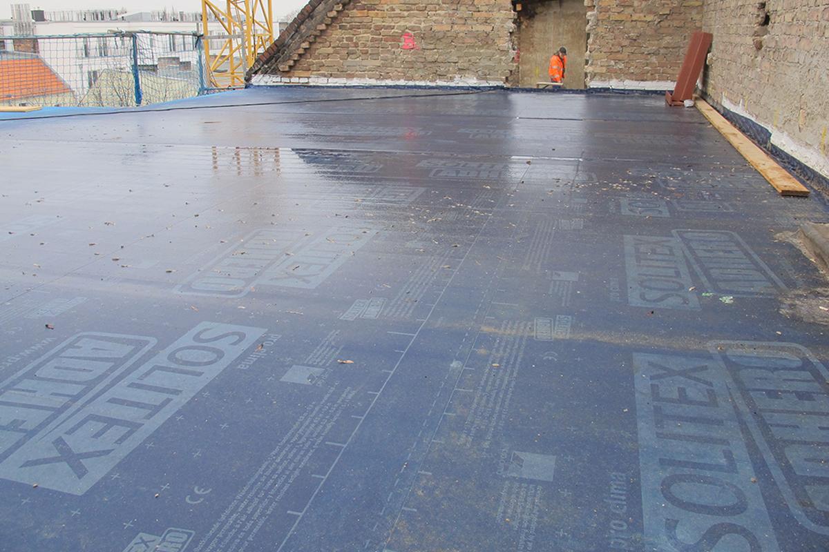 SOLITEX ADHERO Baustelle CLT Dach