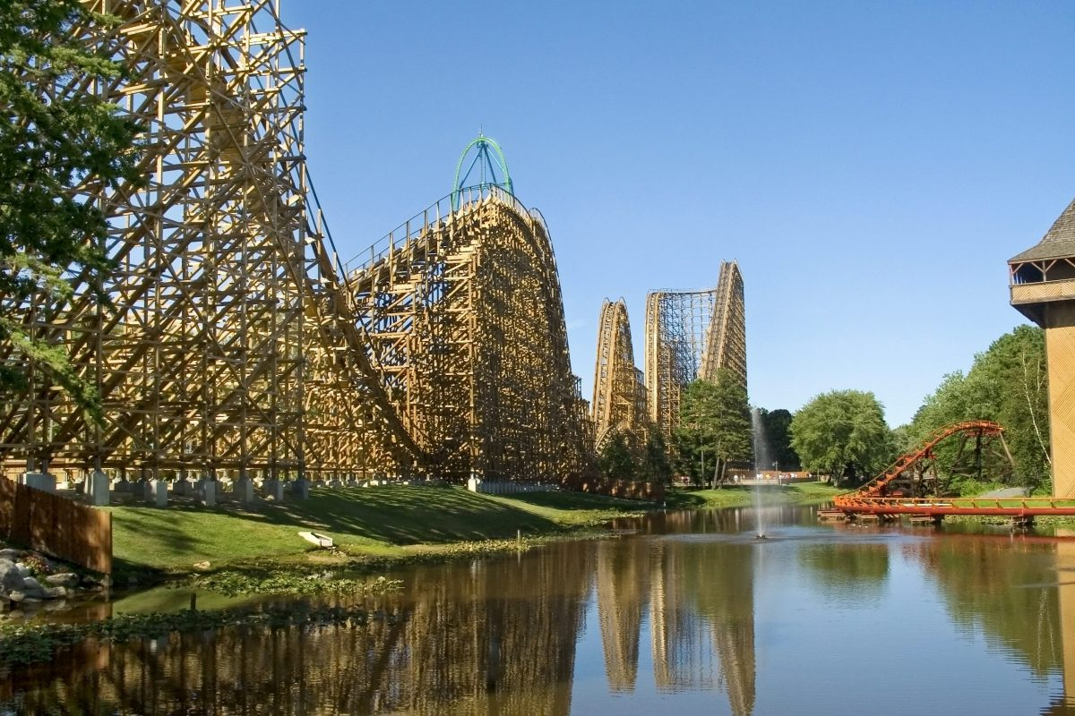 wooden coaster
